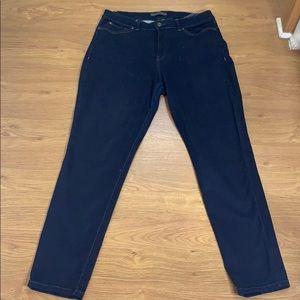 Nine West Jeans Straight Leg Size 14 Dark Blue